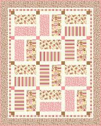 FREE PATTERN: Zoe & Zack Baby Crib Quilts (more sock monkeys ... & Crib Quilt Pink_high res with binding Adamdwight.com