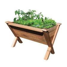 48 in x 34 in rustic cedar modular wedge planter