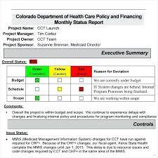 Sample Weekly Status Report Template Sample Weekly Project Status Report Template Monthly Ideas