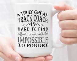 a truly great track coach is hard to find track coaches gift track coach coffee mug
