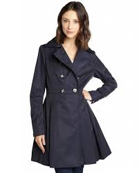 laundry by shelli segal double ted flare trench coat at women s coats