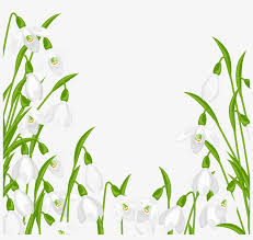 spring flowers border clipart free