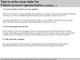 Sample Cover Letter For Patient Service Representative Cover Letter