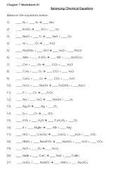 19 sample balancing chemical equations