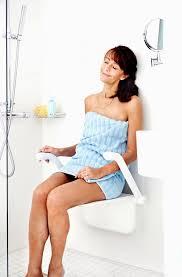 etac relax wall mounted folding shower seat