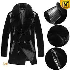 black shearling coat for men cw868005 cwmalls com