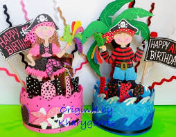 Cake Topper Pirate Party Pirates Birthday Cake Topper
