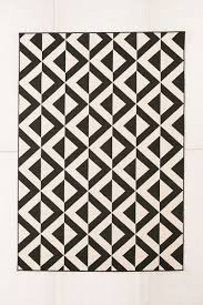 black and white indoor outdoor rug from urban outfitters