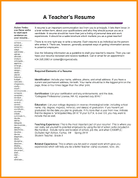 Teaching Resumes 10 Teacher Resumes And Cover Letters Resume Samples