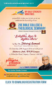 Zoe Bible College My Daily Strength Ministries