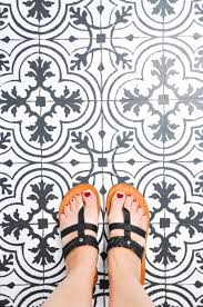 just the most gorgeous vinyl flooring that looks like cement tile from cherished bliss ashley knocked this out of the park