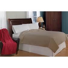 soft heat luxury micro fleece low voltage electric heated queen size blanket na