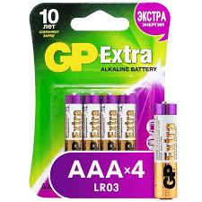 Купить <b>Батарея GP Extra</b> Alkaline <b>AAA</b> (LR03), 4 шт. (24AX-CR4) в ...