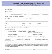 Application For Membership 3 Membership Application Form Templates Pdf Free