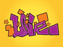 love graffiti text
