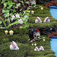 garden ornaments and accessories. Interesting Garden 50pcs Rabbit Fairy Garden Ornaments Resin Miniature Figurines Mini  Accessories Bonsai Micro Landscape Decoration In And R
