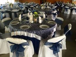 round table linens unique navy blue table cloth with white organza swirl overlay