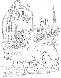 Wolf coloring page for preschoolers one can color the giraffe or elephant collection, another can do the collection about foxes while you can enjoy coloring this latest wolf coloring pages printable. Howling Wolves Color Page Wolf Colors Desert Animals Coloring Animal Coloring Pages