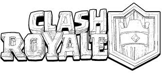 Kleurplaat Clash Royale Logo Clash Royale 2