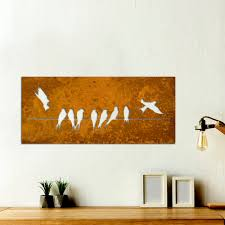 metal birds wall art swallows on a wire