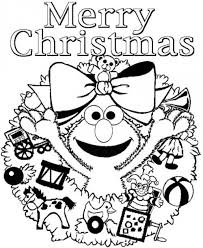 View Christmas Coloring Pages Elmo Pics