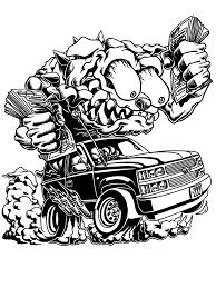 ラットフィンク風のキャラクターや車を描きます ラットフィンクやポップなキャラクターや車が好きな方