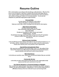 Fresh Scholarship Resume Templates Resume Template For Scholarship