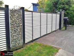 solid metal fence. Used Corrugated Metal As Fencing Fence (Palm Solid L