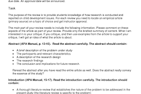 Resume Bunch Ideas Of Example Of Journal Article Critique In Apa