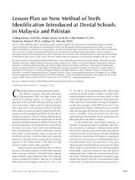 Palmer Notation Charting Pdf Lesson Plan On New Method Of Teeth Identification