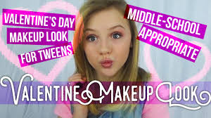 middle makeup tutorial for valentines day tilly bee