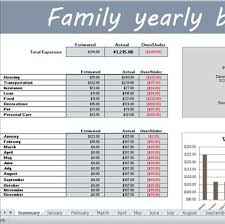 Monthly And Yearly Budget Template Spreadsheetzone Free Excel Spread Sheets