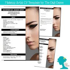 cv template package makeup artist includes a cv by digidame