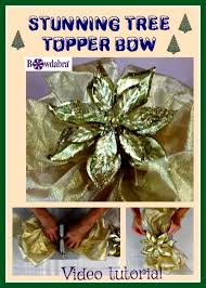 how to make a stunning tree topper bow