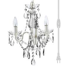 good looking mini plug in chandelier 1 the original gypsy color 3 light crystal