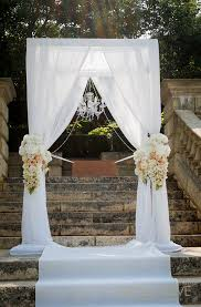 deluxe arch arrangements made to order using silk flowers