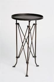 metal accordion side table living rooms room and with regard to black decor 17