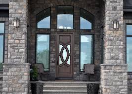 luxury front doorsLuxury Home Entrance Brick Home Entrance Brown Wood Door