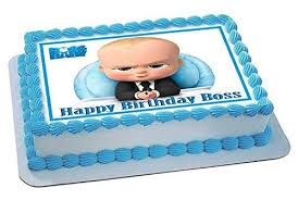 Amazoncom The Boss Baby Edible Cake Topper 75 X 10 14
