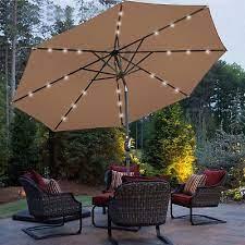 10 ft umbrella with solar lights