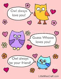 Small Picture Crafts Valentines Owl Talk Coloring Page