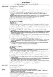 Resume Format For Finance Jobs Sales Finance Resume Samples Velvet Jobs 15
