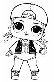Doll Coloring Pages Free Printable Lol Surprise Dolls