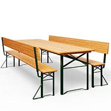 Chairs Deuba Garden Furniture Table Bench Set Wooden Trestle Foldable Beer Bench Set With Backrest 170 Amazon Uk Deuba Garden Furniture Table Bench Set Wooden Trestle Foldable Beer