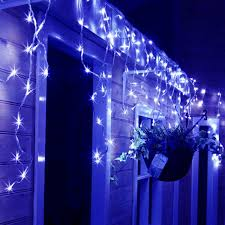 Blue And Warm White Icicle Lights Christmas 16 4ft 216 Leds Starry Icicle String Lights Blue Warm White Daylight