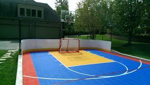 Backyards  Mesmerizing Backyard Tennis Courts 10 Basketball Court Backyard Tennis Court Cost
