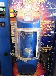 Hollywood Popcorn Vending Machine Extraordinary West Auctions Auction Arcade Games And Hotel Furniture ITEM