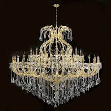 worldwide lighting corp maria theresa 48 light gold finish with clear crystals chandelier