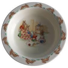 royal doulton bunnykins watching tv porridge bowl jane s fun things ruby lane
