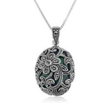 A Designer Needs To Create Perfectly Circular Necklaces Marina Jewelry 925 Sterling Silver Floral Design Eilat Stone Necklace With Marcasite Stone